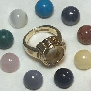 Jewelry - Size 6 ring with interchangeable stones